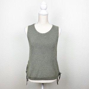 Madewell Side Tie Sweater Tank Top
